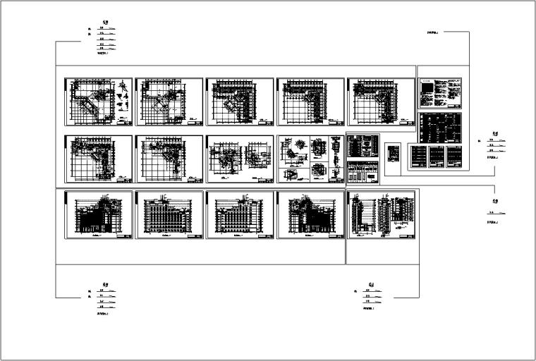 现代高层宾馆酒店建筑设计施工图CAD-现代多层酒店建筑设计施工图