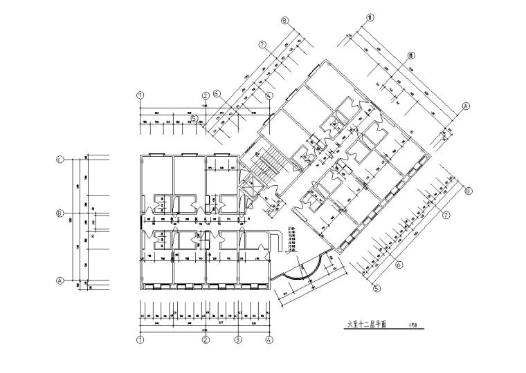 3套现代宾馆酒店建筑设计施工图CAD_4