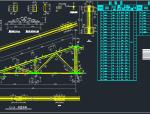 12米带吊车三角形钢屋架结构施工图