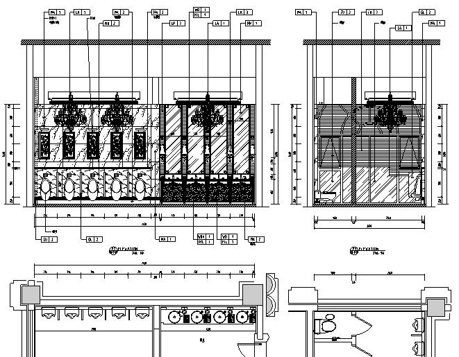 [内蒙古]高贵奢华酒店设计施工图(附效果图)