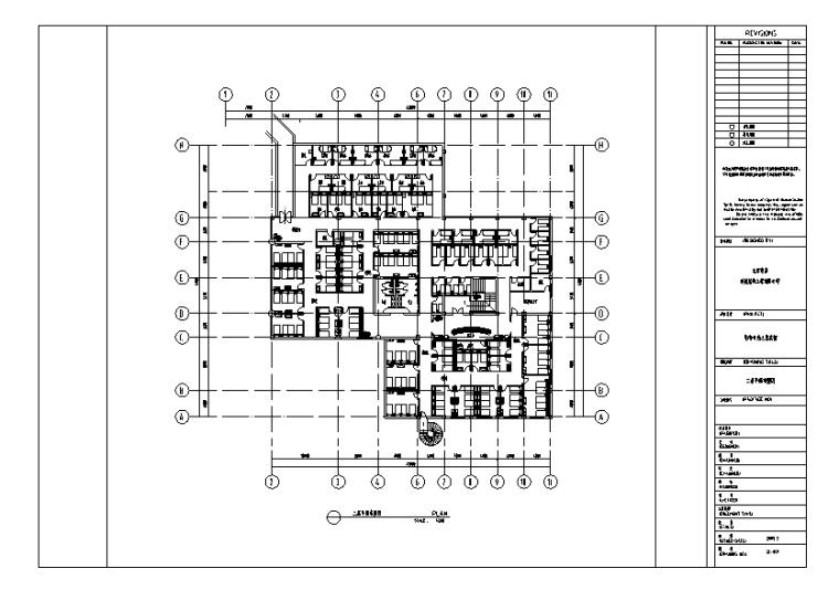 影帝丽池浴场室内设计施工图及效果图(70张)_1