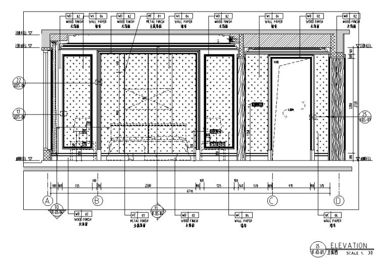 [辽宁]底跃户型样板房设计施工图(附效果图)
