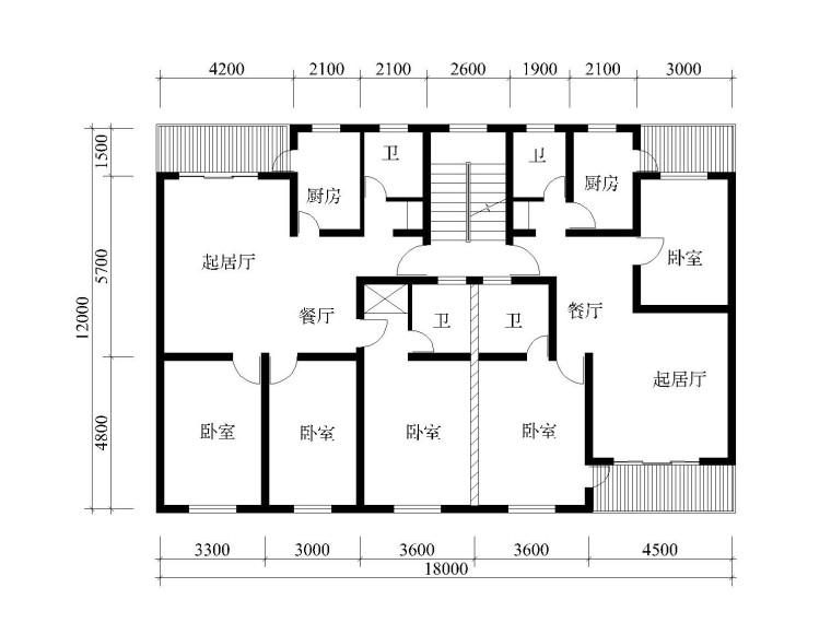 132套单元式住宅、户型设计CAD图集