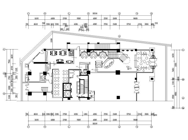 [长沙]现代简约风格主题餐厅装修施工图