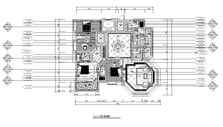 [广东]某欧式风格景观园别墅户型施工图