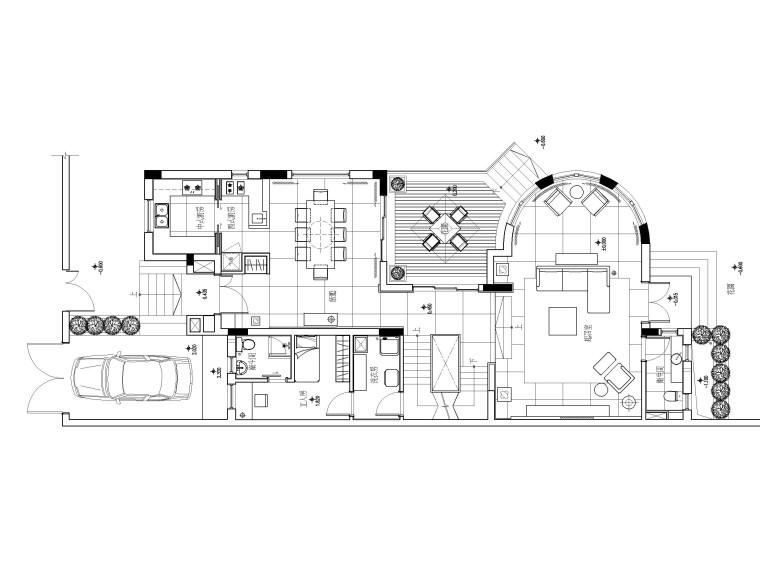 [深圳]现代简约风格华侨城样板间装修施工图(附手绘效果图)