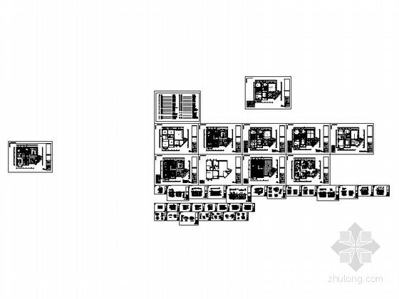 [广州]电梯洋房时尚现代四居室装修施工图资料图纸总缩略图