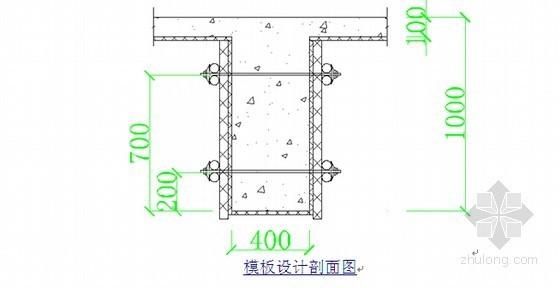 模板设计剖面图