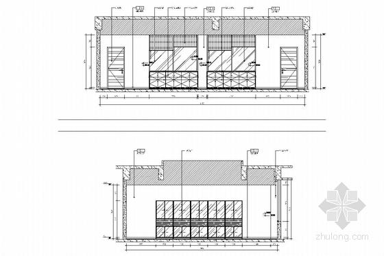 [江苏]1省级重点实验中学艺术中心室内施工图 美术教室立面图