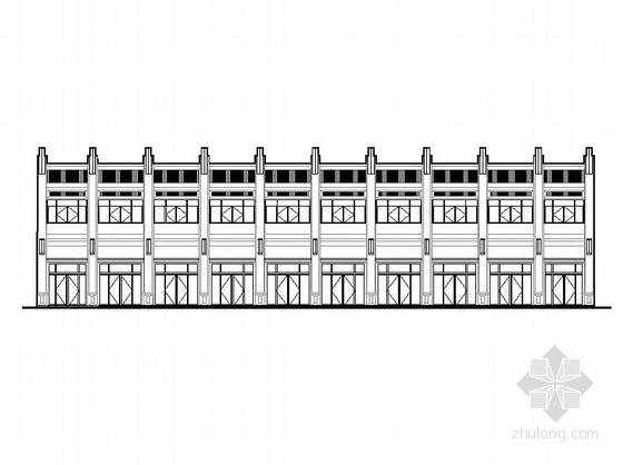 [内蒙古]两层框架涂料外墙大型商场建筑施工图