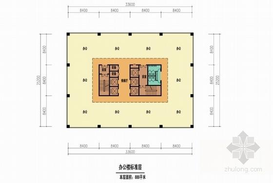 [内蒙古]artdeco风格高层城市综合体建筑设计方案文本-artdeco风格高层城市综合体各层平面图