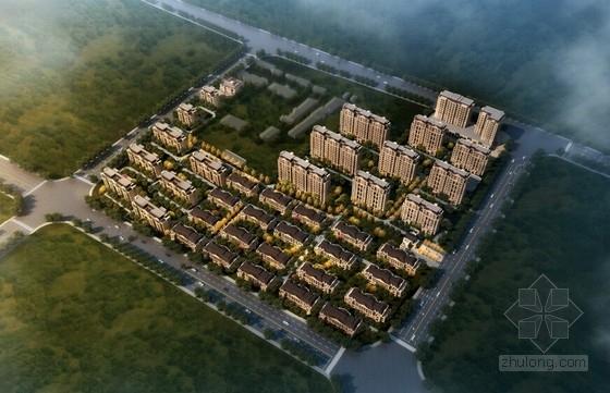 [山西]法式风格别墅及小高层住宅区规划设计方案文本