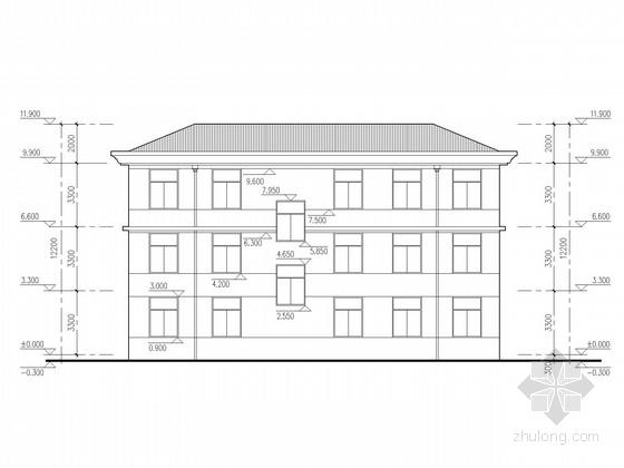 三层砌体办公楼结构施工图(含建施)
