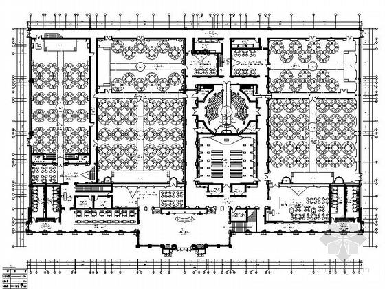 [上海]幽静高雅简欧风格私人婚礼会所装修施工图(含效果)