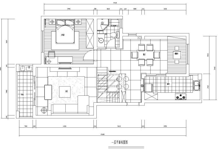 [江西]苏州简约时尚风格常熟老街160复式加跃层室内施工图设计(附实景图片