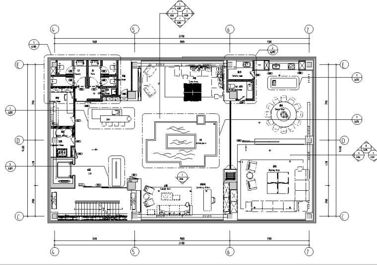 [北京]枢密院顶层私人会所空间设计施工图(附概念方案+效果图+模型)