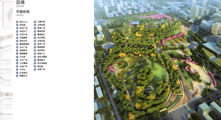 [安徽]含山县山体高差森林公园修建性详细规划设计B-2平面布局