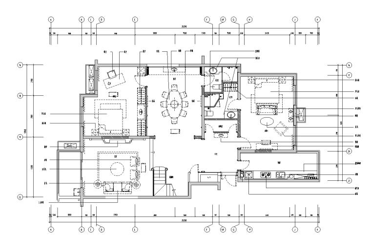 [陕西]西安晶城秀府·意式室内装饰设计施工图文本(JPG+实景图)