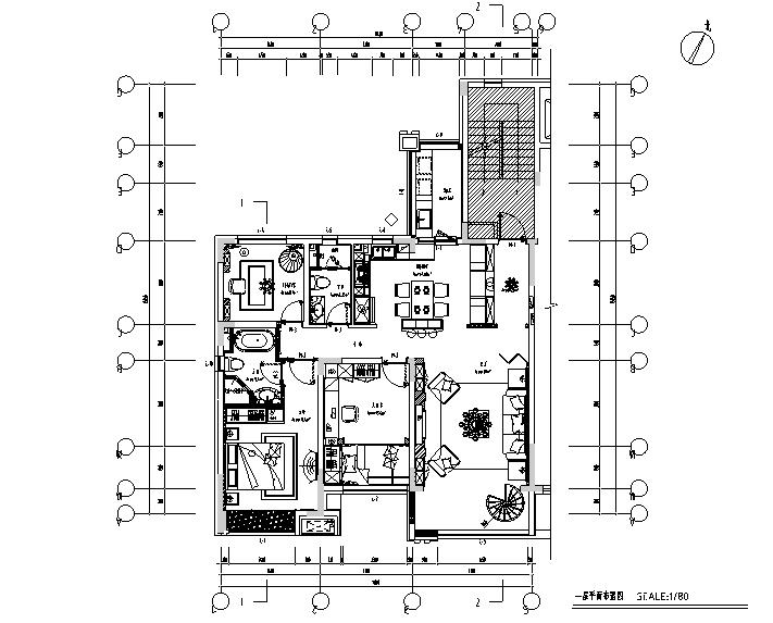 以海风诠释浪漫|美式浪漫住宅设计施工图(附效果图)