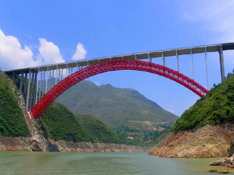 净跨400m钢箱桁架上承式拱桥无支架缆索吊装施工技术汇报106页(附138张CAD)
