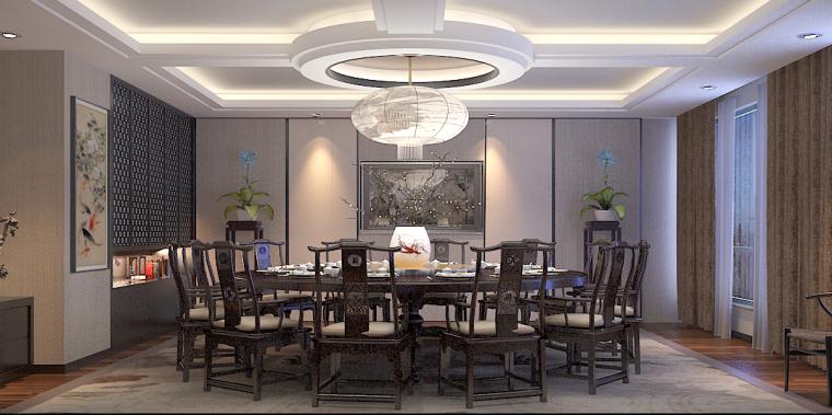 中式餐厅01-中式包厢第1张图片