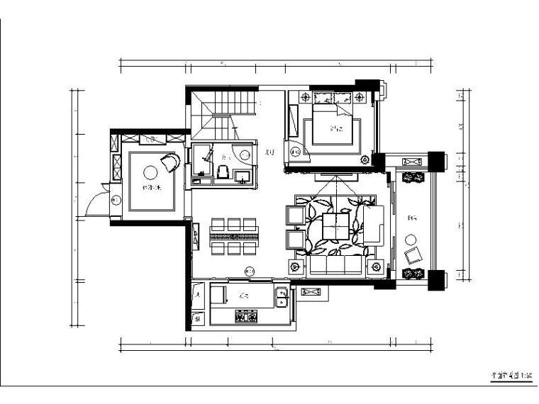 [深圳]欧式样板房设计施工图(含效果图)