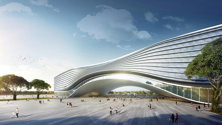 全国7大会展中心设计合集(实景图+效果图)-18-西安丝路国际会展中心效果图