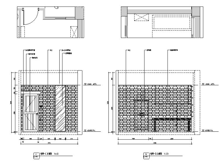 [新疆]竹林自然风茶室空间设计施工图(附效果图)_1