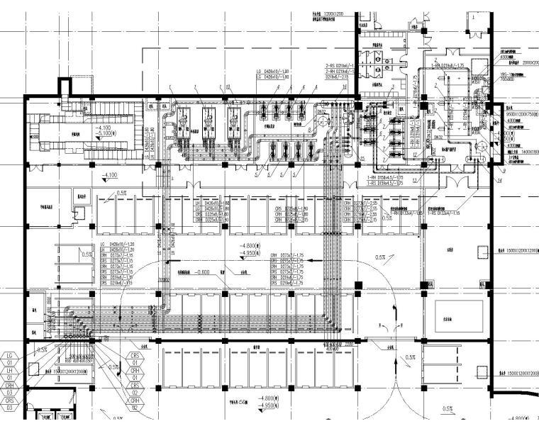 [上海]业务处理三号楼及后勤服务中心暖通施工图(含通风空调及防排烟图纸等)_1