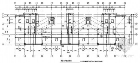框剪结构小高层住宅楼结构施工图(12层 桩基础 坡屋面)