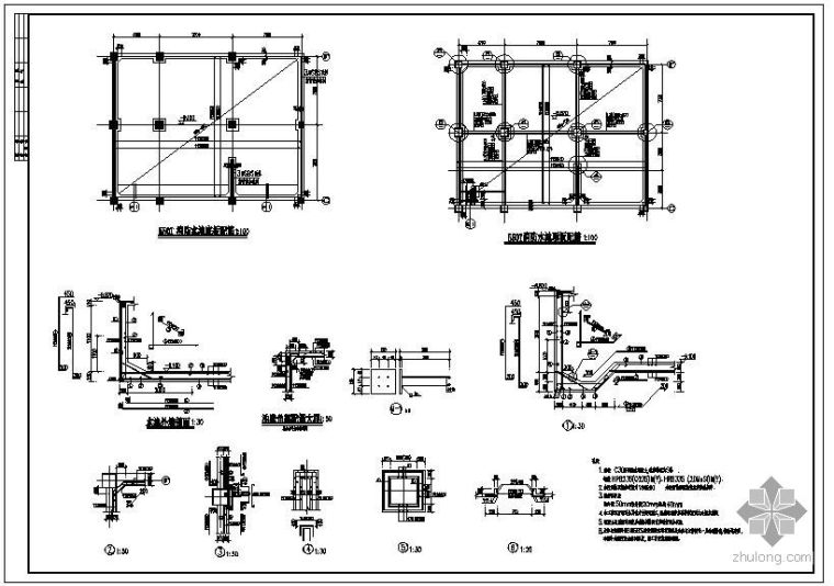 某大厦消防水池节点构造详图_1