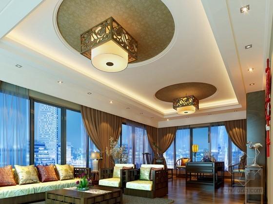 中式风格客厅 书房