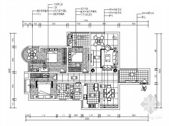 [重庆]精品楼盘新中式三居室装修图(含效果模型)