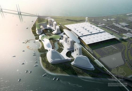[珠海]双向正交桁架结构沿海城市综合体建筑设计方案文本