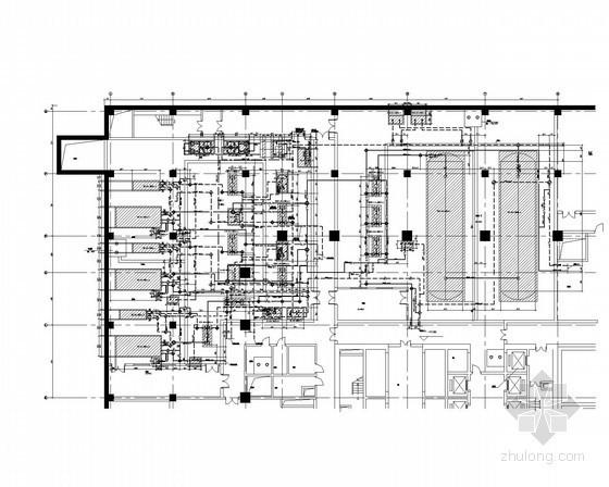 [山东]奥体中心办公楼空调通风排烟系统施工图(著名院作品 水源多联机系统)