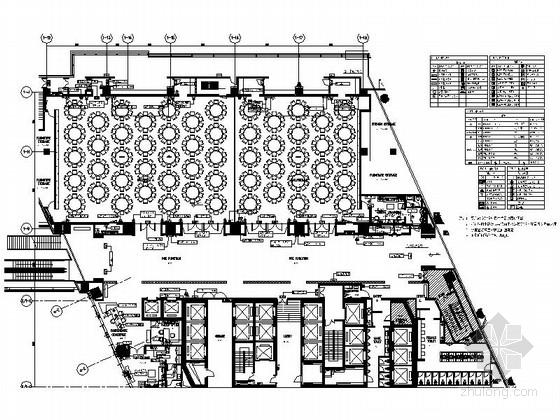 [上海]精品豪华现代商务酒店宴会厅室内装修施工图(含效果)