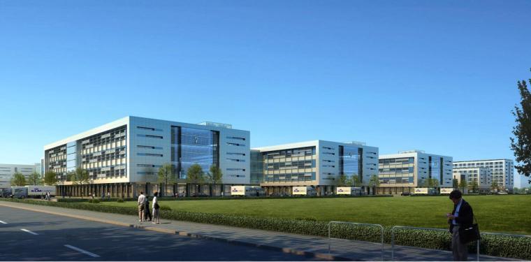 [南京]现代风格波纹金属立面小高层工业园建筑设计方案文本