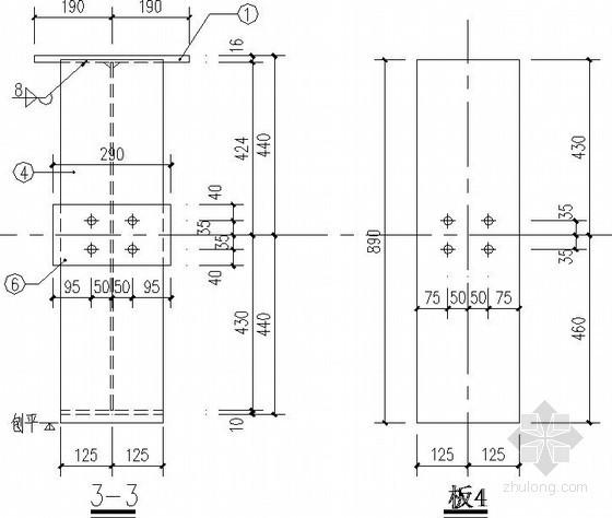 焊接钢吊梁节点构造详图