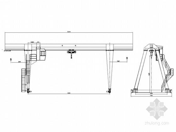10吨龙门吊CAD图纸