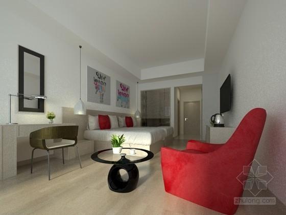 酒店宾馆客房3d模型下载