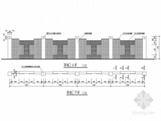 砖围墙构造详图