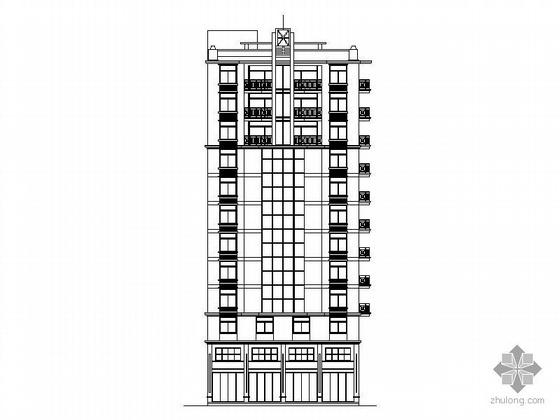 某十一层顶层复式商住楼建筑施工图含效果图