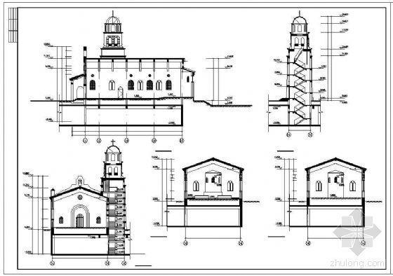 某一层欧洲风格教堂建筑方案-3