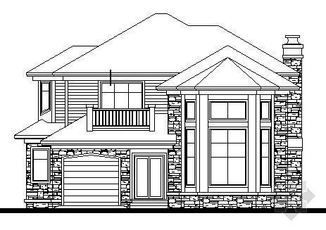 某二层独栋别墅方案设计图