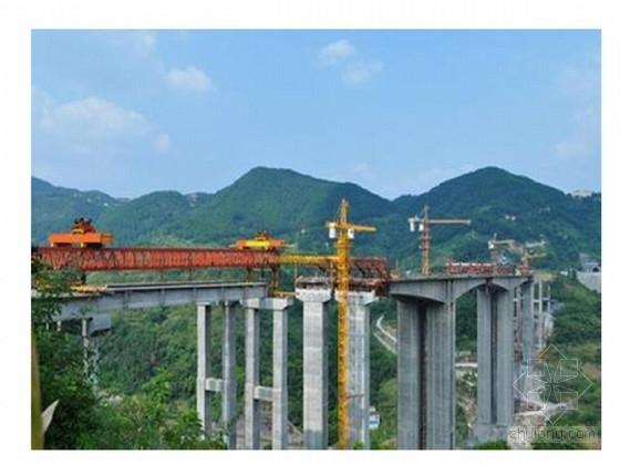 四联预应力连续刚构箱梁桥主桥、引桥施工图(245张 113米高墩)