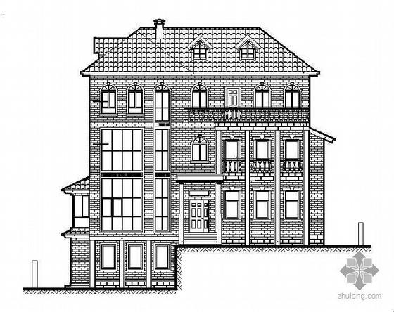 某三层坡屋顶别墅建筑施工图