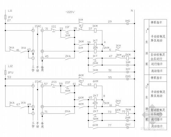 常用电气控制设计图42张(全套CAD图集)