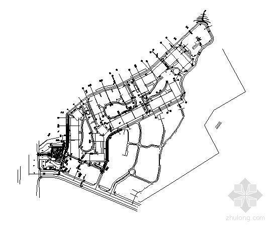 售楼部入口环境施工图全套