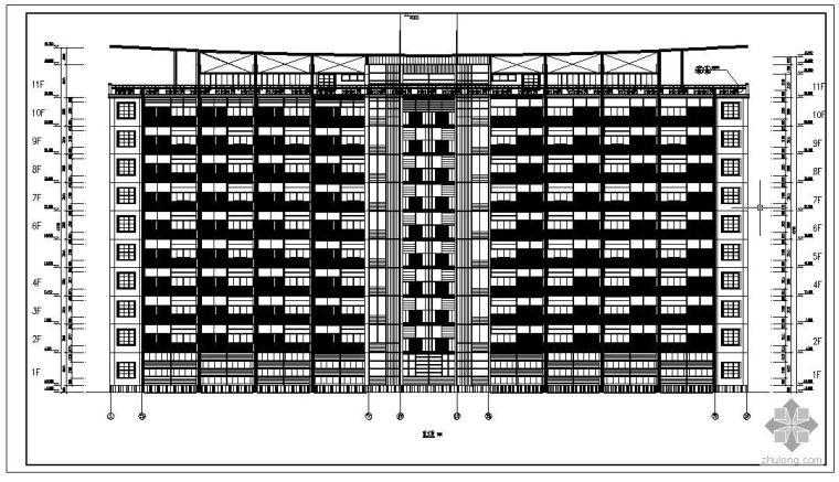[学士]某11层办公大楼毕业设计(含计算书、建筑结构设计图)