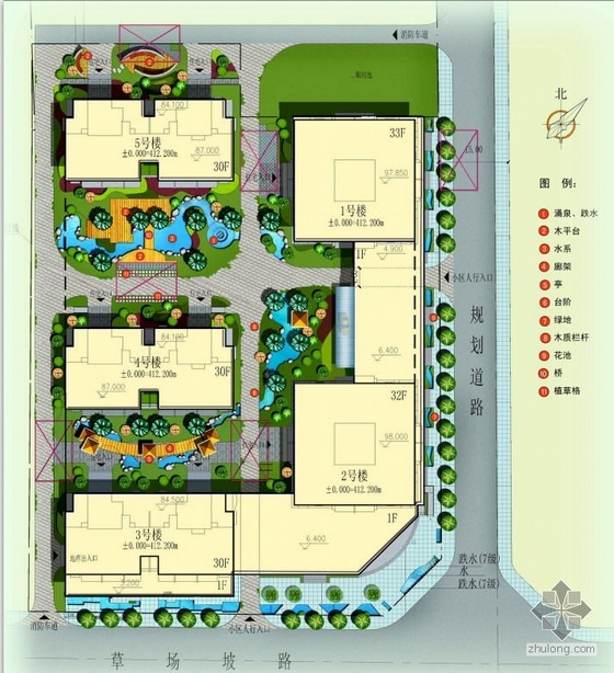 西安小区景观设计方案文本全套